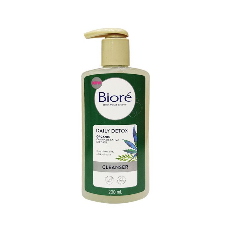 Biore Daily Detox Organic Cannabis Sativa Seed Oil Cleanser 200ml