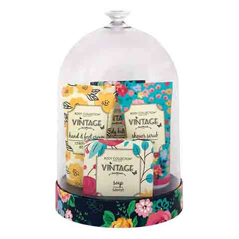 Body Collection Vintage Ladies Bath & Body Bell Jar Gift Set