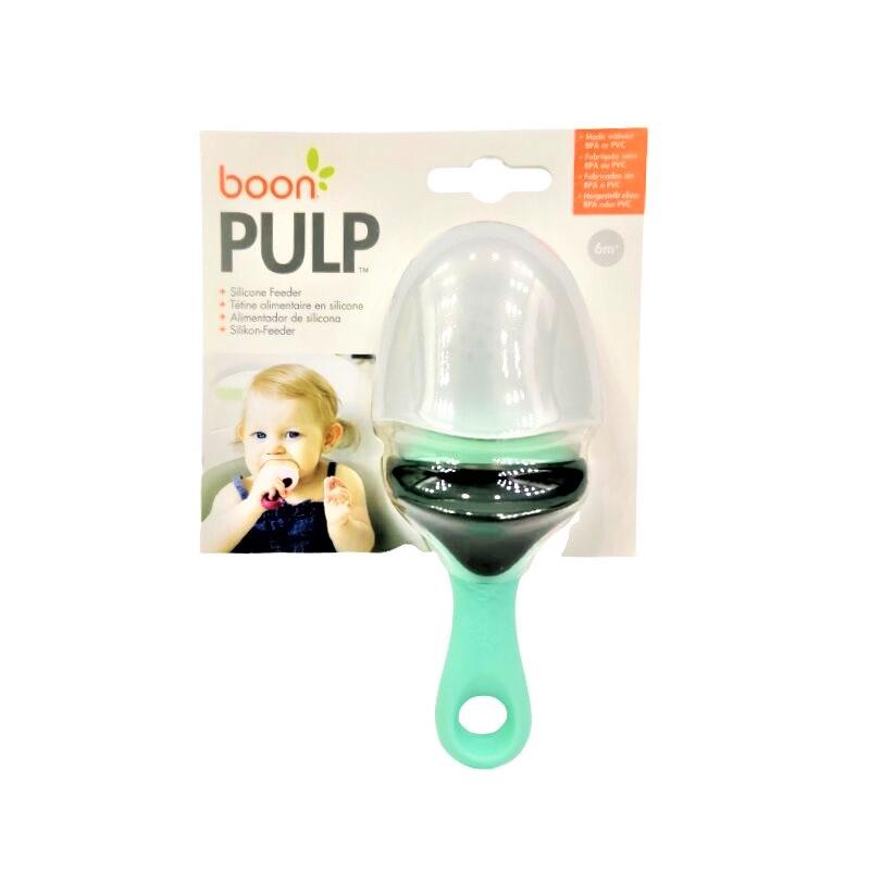 Boon Pulp Silicone Feeder 6m+ - Mint & Dark Green