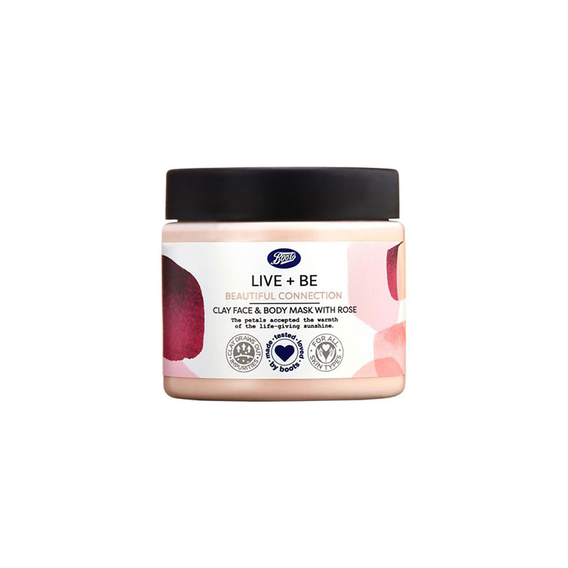 Boots Beautiful Connection Clay Face And Body Mask With Rose 200ml