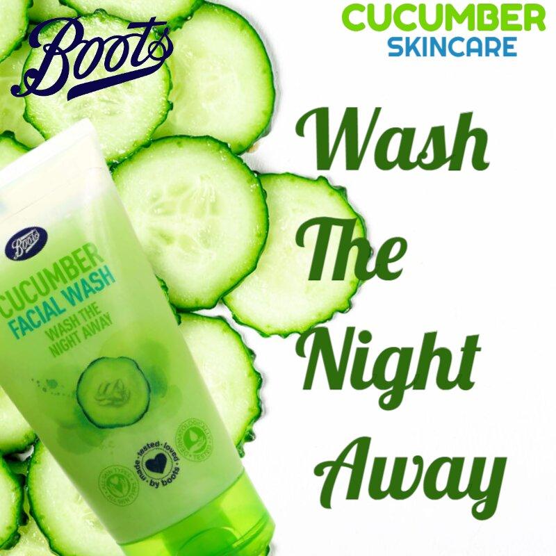Boots Cucumber Facial Wash - Wash The Night Away 150ml