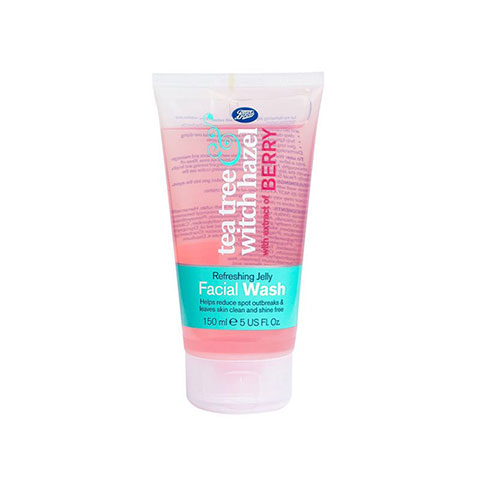 Boots Tea Tree Witch Hazel Refreshing Jelly Facial Wash 150ml