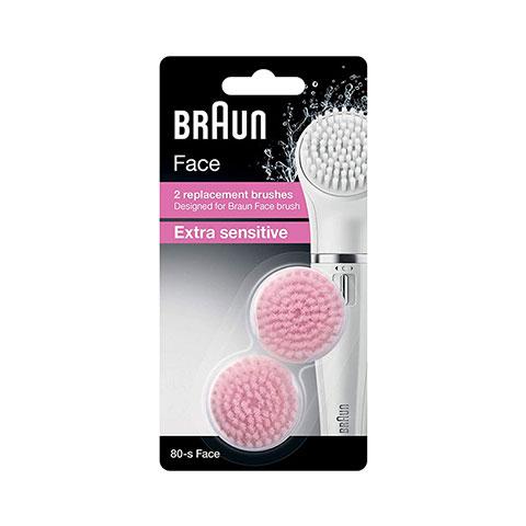 Braun 80-s Face 2 Replacement Extra Sensitive Brushes (1381)