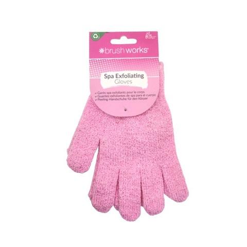 Brush Works Pair Of Spa Exfoliating Body Gloves - Pink
