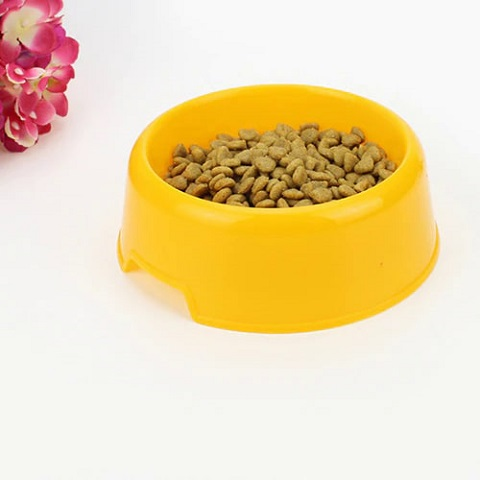 Candy Colored Pet Small Round Bowl - Yellow