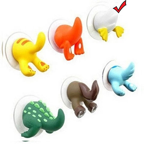 Cartoon Animal Tail Hook - White