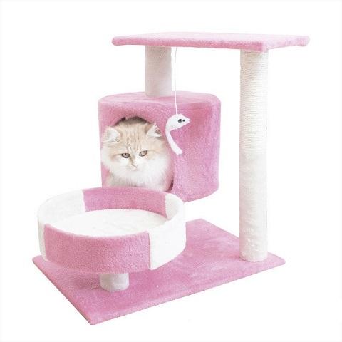 Cat Tree Climbing Frame - Pink (20221)