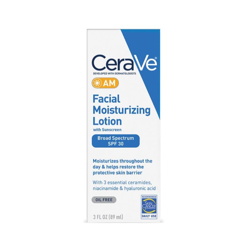 CeraVe AM Facial Moisturizing Lotion With Sunscreen 89ml - SPF 30