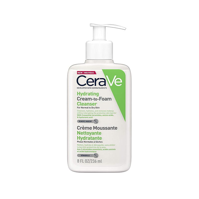 CeraVe Hydrating Cream To Foam Cleanser For Normal To Dry Skin 236ml