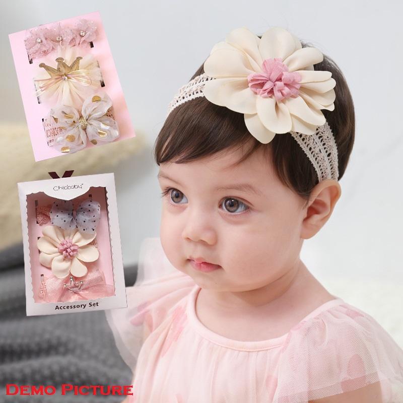 Chic Baby 3 Headband Accessory Set - Golden