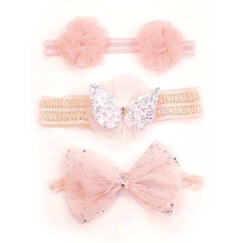 Chic Baby 3 Headband Accessory Set - Pink