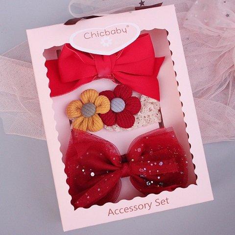 Chic Baby 3 Headband Accessory Set - Red