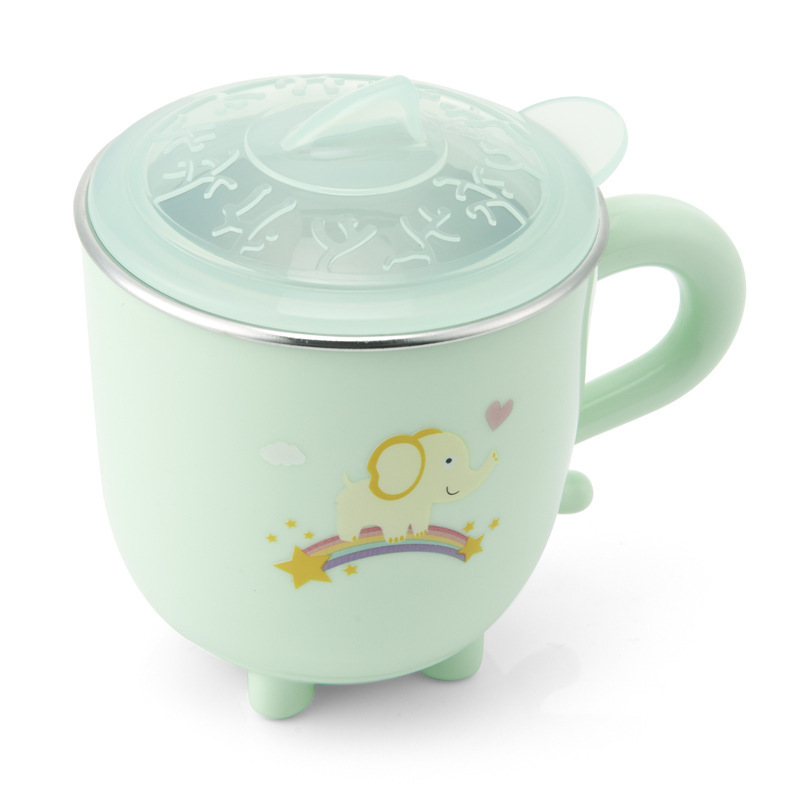Children's Stainless Steel Colorful Water Cup - Green