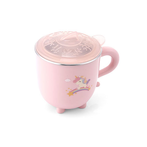 Children's Stainless Steel Colorful Water Cup - Pink