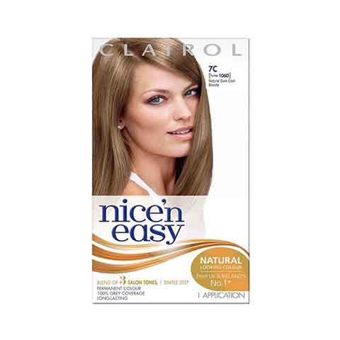 Clairol Nice N Easy Permanent Hair Colour - Natural Dark Cool Blonde 7C