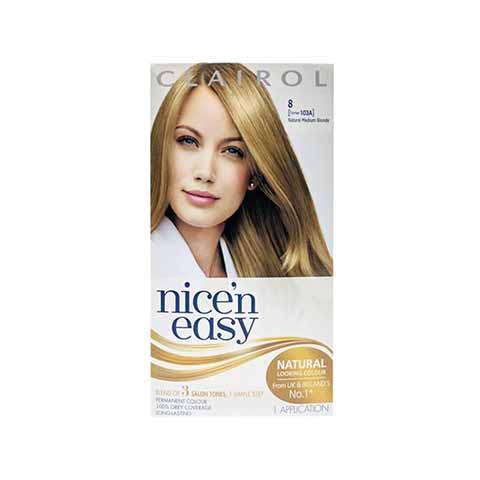 Clairol Nice N Easy Permanent Hair Colour - Natural Medium Blonde 8