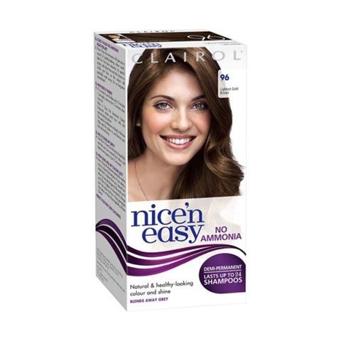 Clairol Nice`n Easy No Ammonia Demi-Permanent Hair Colour - 96 Lightest Golden Brown