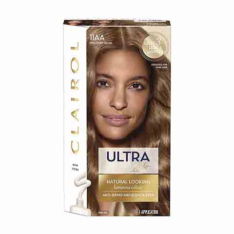 Clairol Ultra Lift Natural Looking Permanent Hair Colour - 11AA Ash Blonde