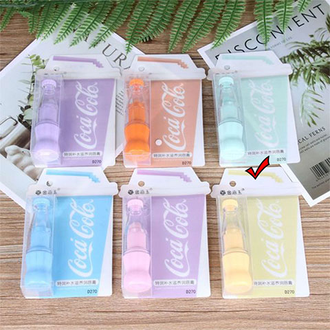 Cola Bottle Color Changing Lip Balm - Yellow