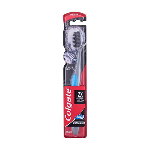 Colgate 360 Charcoal 2X Deeper Clean Toothbrush - Blue