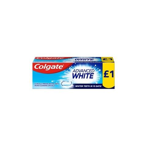 Colgate Advanced White Fluoride Toothpaste 50ml