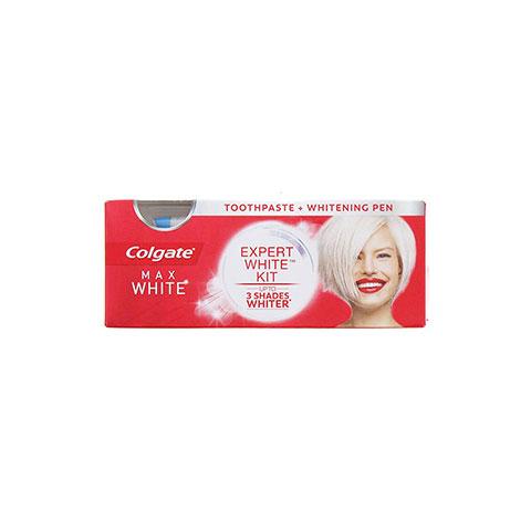 Colgate Max Expert White Kit - Max White Toothpaste & Whitening Pen