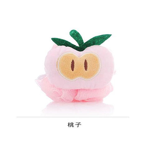 Colorful Fruit Shaped Flower Bath Wipe - Light Pink