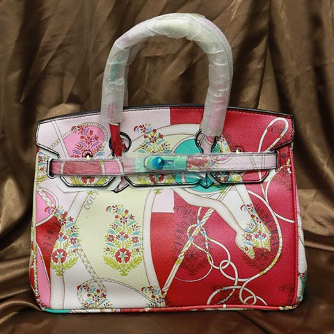 Colorful Printed Women's Handbag (2016-1) - Pink
