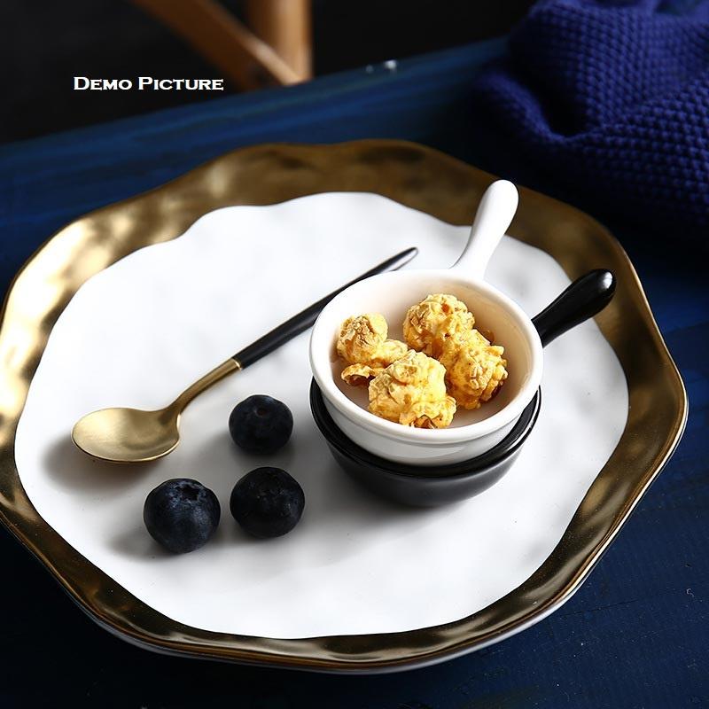 Creative Japanese Style Mini Ceramic Dish with Handle - Green