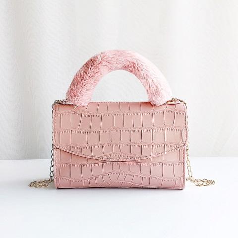 Crocodile Pattern Portable Ladies One-Shoulder Diagonal bag