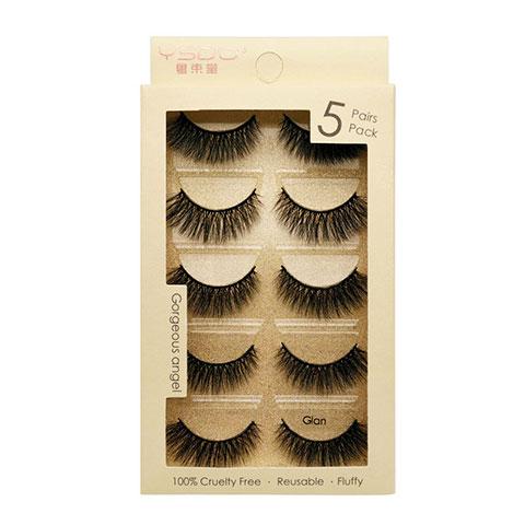 Cross-Border New 3D Mink Hair Soft False Eyelashes - Glan