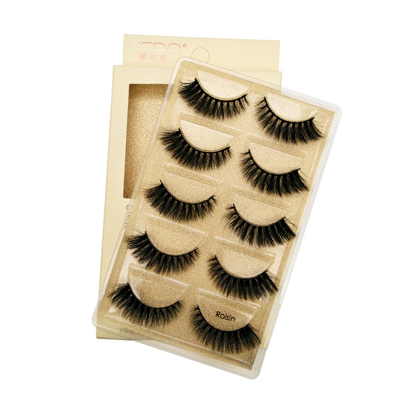 Cross-Border New 3D Mink Hair Soft False Eyelashes - Roisin