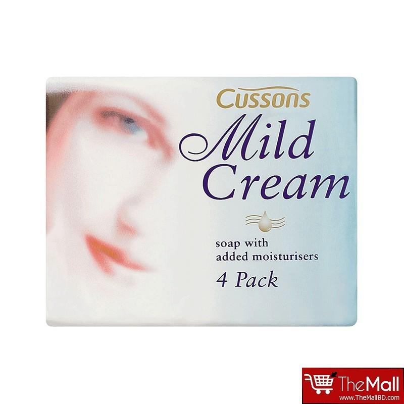 Cussons Mild Cream Soap Bar - Original (4x90g)