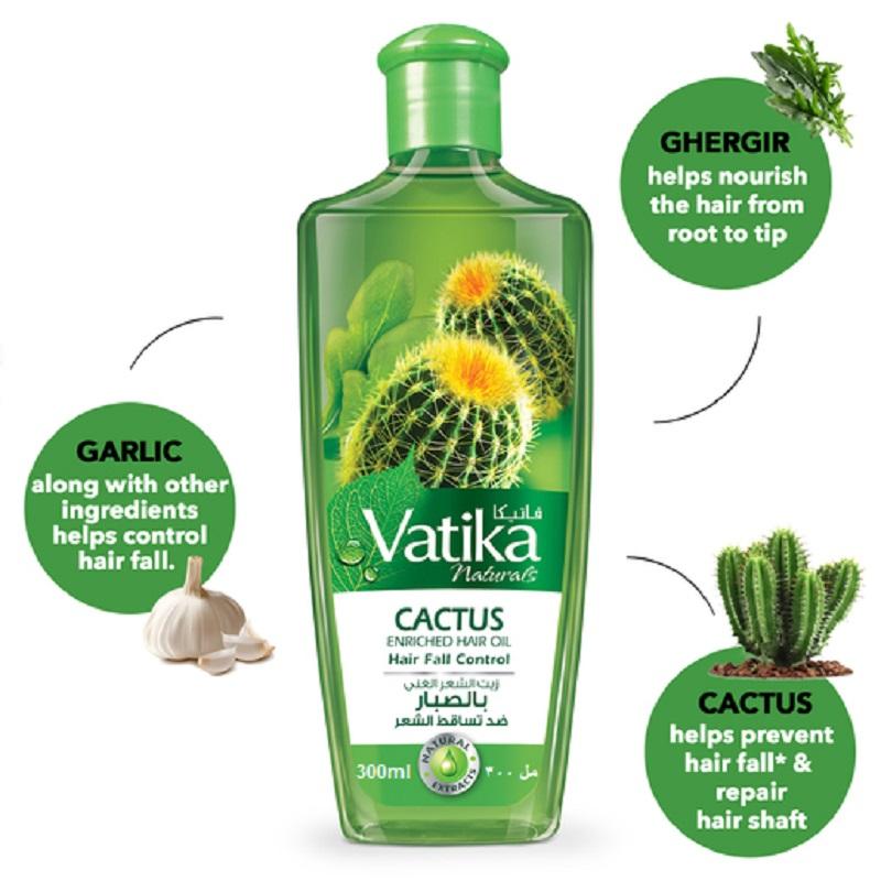 Dabur Vatika Naturals Cactus Enriched Hair Oil 300ml
