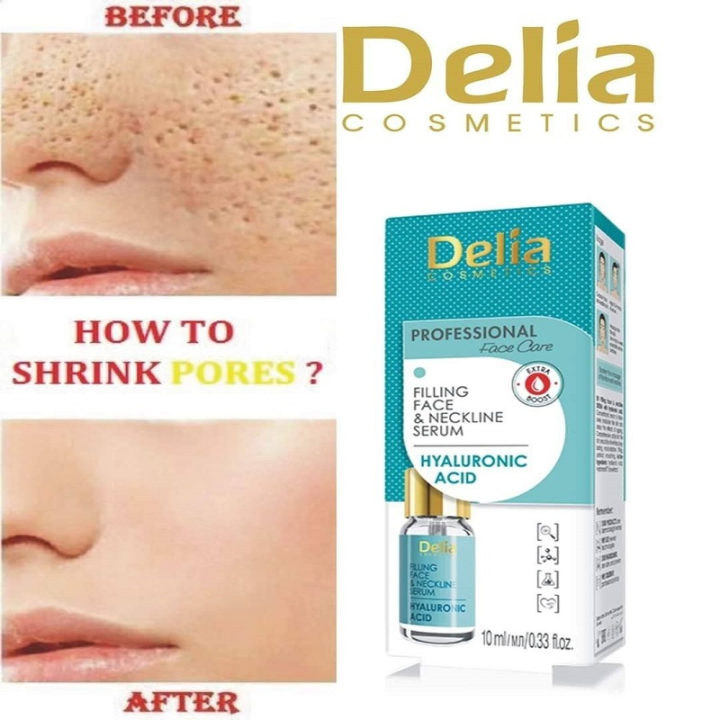 Delia Cosmetics Filling Face & Neckline Serum With Hyaluronic Acid 10ml
