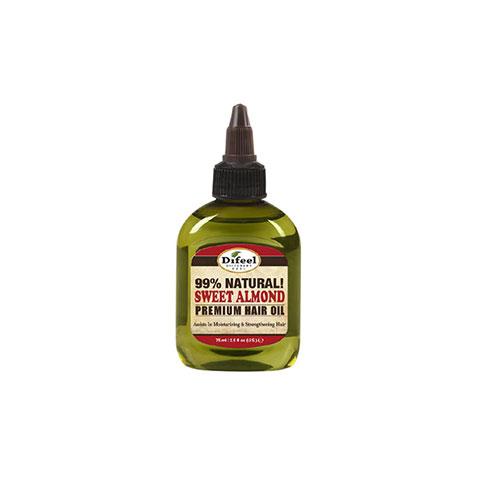 Difeel Premium Natural Sweet Almond Hair Oil 75ml