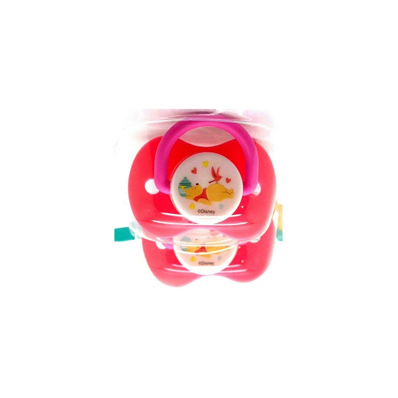 Disney Winnie The Pooh Baby Soothers 3m+ - Pink