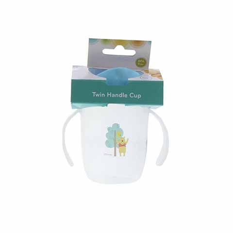 Disney Winnie The Pooh Twin Handle Cup 6m+ - Blue