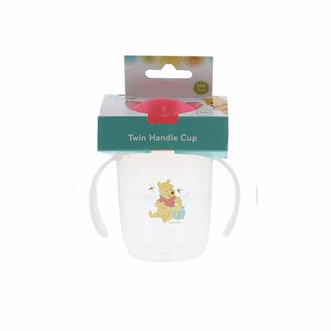 Disney Winnie The Pooh Twin Handle Cup 6m+ - Pink