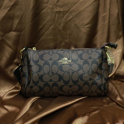 Double C Printed inspired By Ladies Handbag (888) - Coffee