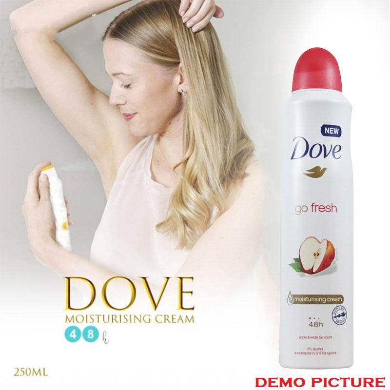 Dove Antiperspirant Go Fresh With Apple & White Tea Scent Spray 250ml