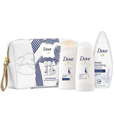 Dove Nourishing Beauty Mini Beauty Bag Gift  Set