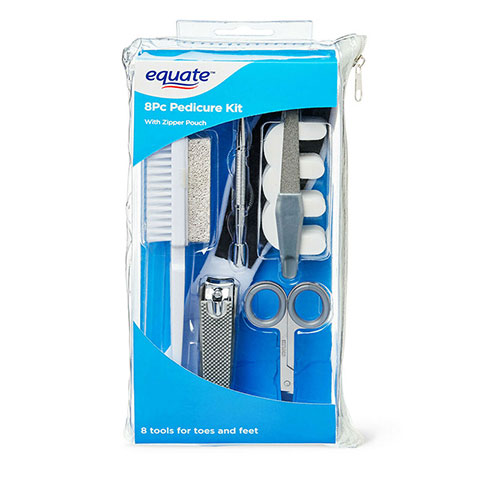 Equate 8 Piece Pedicure Kit with Zipper Pouch