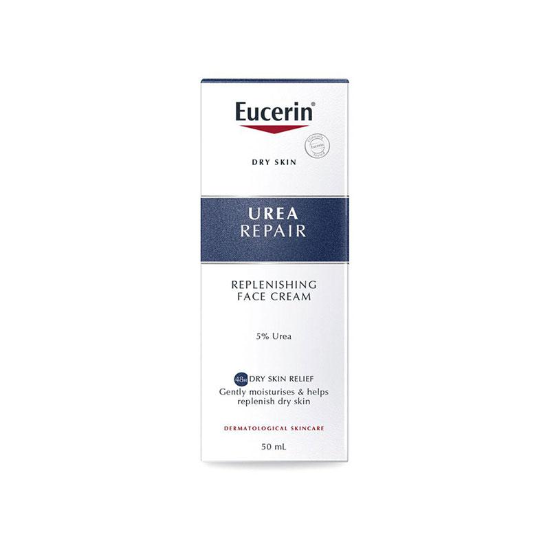 Eucerin Urea Repair Replenishing Face Cream 5% Urea For Dry Skin 50ml
