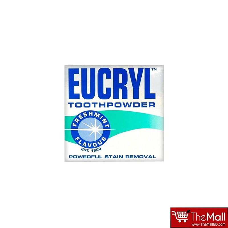 Eucryl Powerful Stain Removal Freshmint Flavour Tooth Powder 50ml