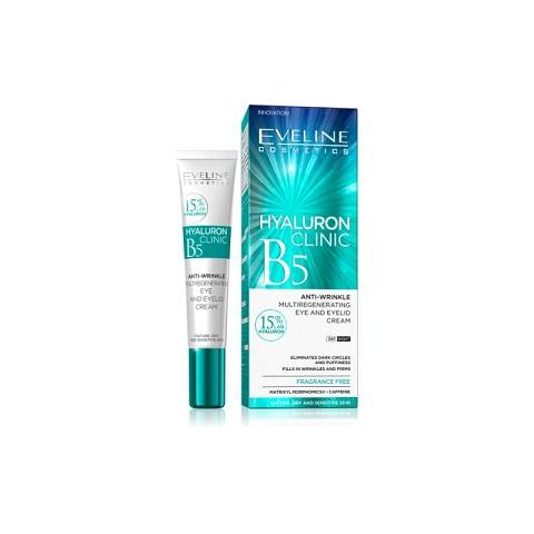 Eveline Cosmetics Hyaluron Clinic B5 Anti-wrinkle Eye And Eyelid Cream 20ml
