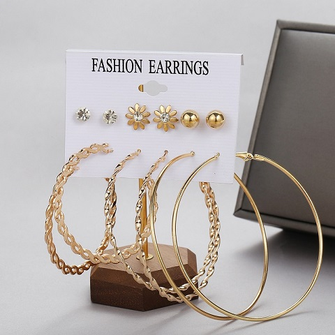 Exaggerated Large Circle Earrings Set (20145)