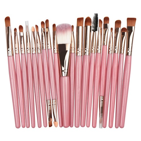 Eye Makeup Brush 20 Pieces Set - Pink (20107)