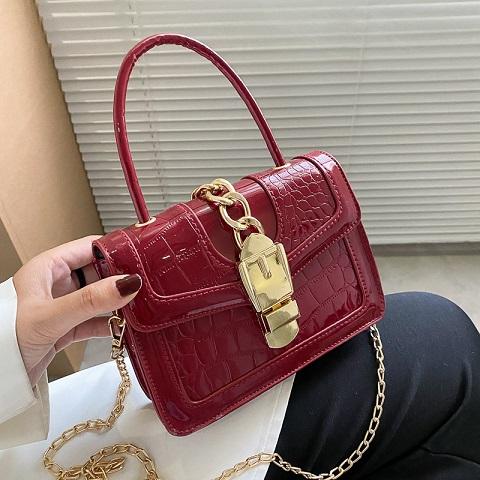 Fashionable Crocodile Pattern Chain Lock Small Bag (1001064)
