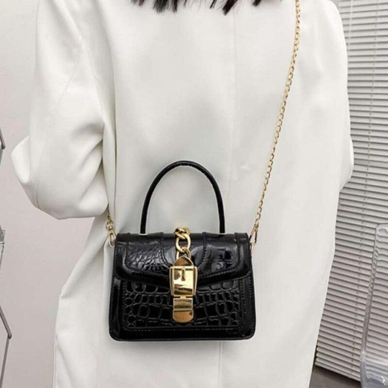 Fashionable Crocodile Pattern Chain Lock Small Bag (1001066)